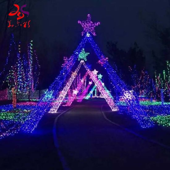 2020 New Christmas Outdoor Lights China Outdoor Waterproof Handmade Customized 3D Tunnel Gallery