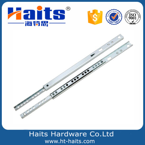 Exceptional 17mm Mini Drawer Slide 0.8mm Thickness Drawer Slides 10 Inch Telescopic  Channel