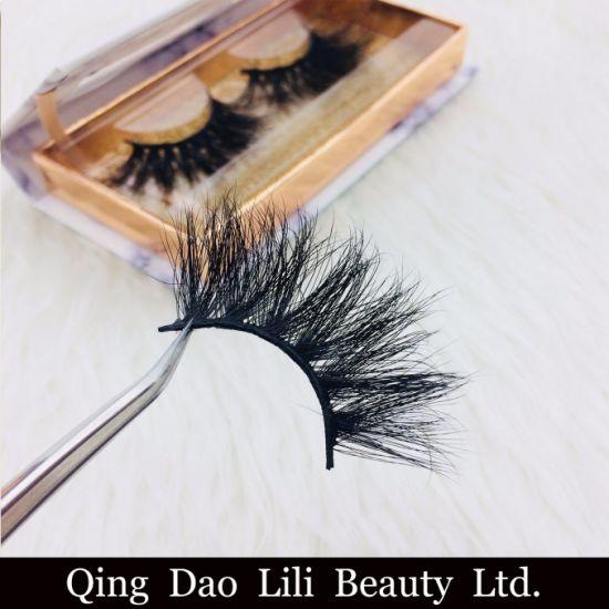 c8f1345d7bf Luxury 25mm Siberian Mink Eyelash Strips with Custom Logo Wholesale Cruelty  Free Mink Eyelash pictures &
