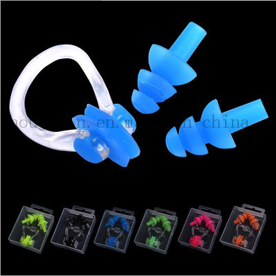 OEM Silicone Waterproof Earplug Nose Clip Suit for Swimming pictures & photos