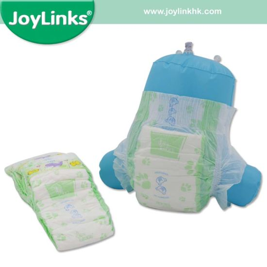 Baby Diaper with Magic Tape Refastenable System