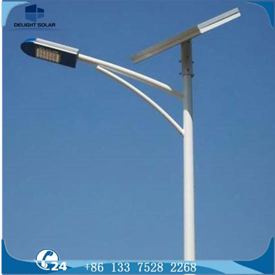 China 10m Octagonal Hot Dip Galvanizing Pole 24vdc Solar Camping