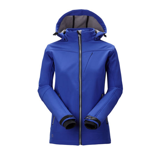 Leisure Waterproof 3 Layers Softshell Jacket Hooded Sportswear pictures & photos
