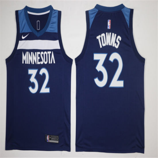 2019 Minnesota Timberwolves Karl-Anthony Towns Putian Replica Stitched  Basketball Jerseys