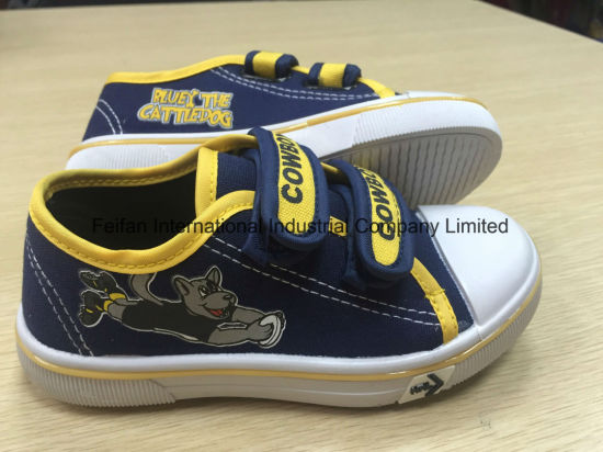 OEM Children′s Velcro Canvas Shoes Children Casual Shoes Skate Shoes (HH17601) pictures & photos