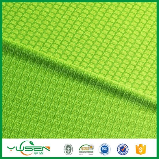 Fabric Online Alibaba China Cloth Design Bangladesh 100% Polyester Honeycomb Jersey Fabric pictures & photos