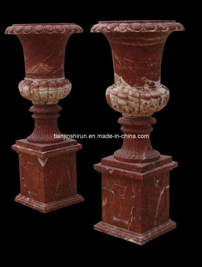 Rose Marble Vase on Base (1727)