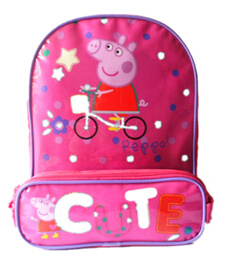 Hotsale 600d Peppa Kindergarten Kids School Bag Backpack pictures & photos