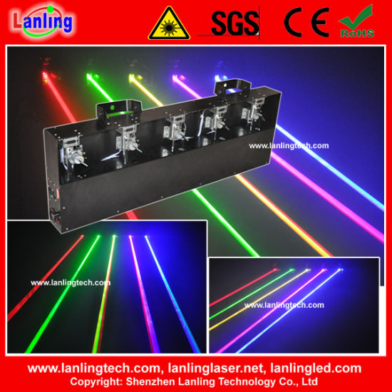 Fat Beam Moving Head 5 Colors Sound DJ Laser Light