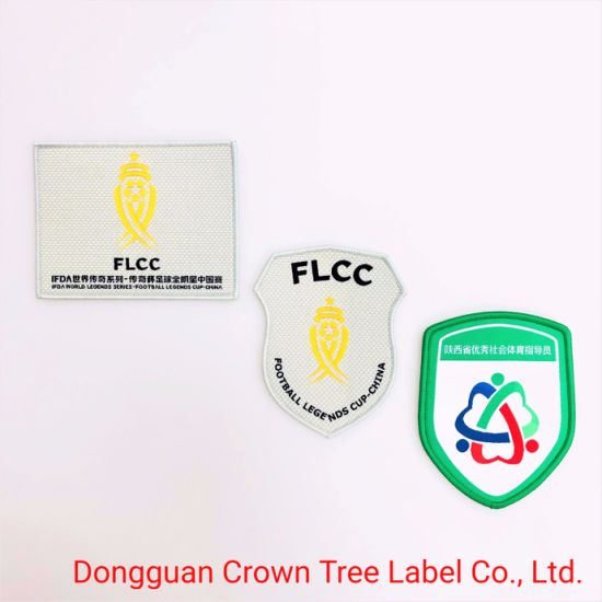 Hot Sell Flcc Woven Patch Garment Accessories for Football Team Uniform