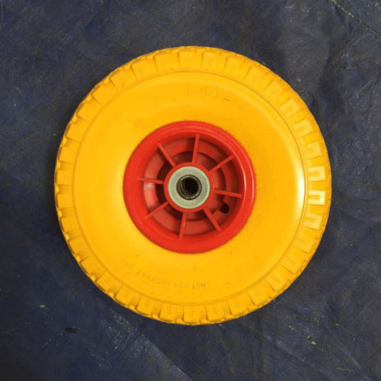 High Quality PU Foam Wheel for Hand Trolley pictures & photos
