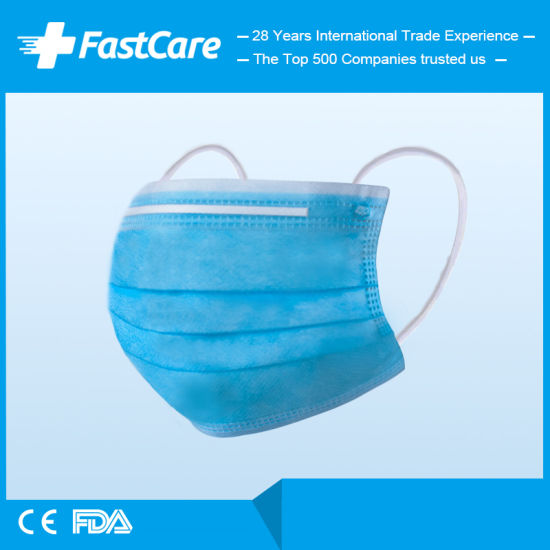 Wholesale Active Carbon 3 Ply Earloop Medical Disposable Medical Surgical Face Mask
