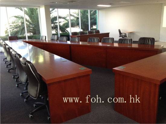 China Wooden V Shaped Conference Table Traning Room Meeting Table - V shaped conference table