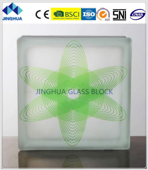 Jinghua High Quality Best Price Artistic P-5 Painting Glass Block/Brick
