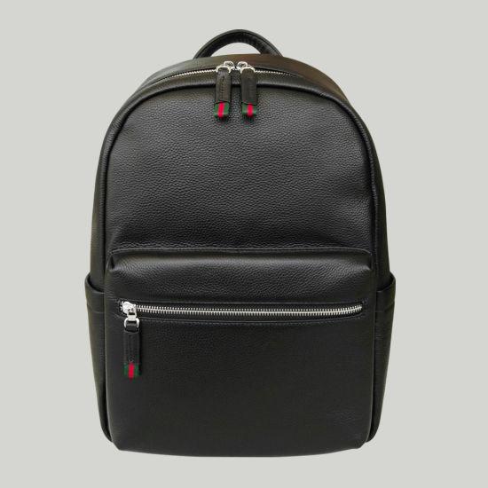 Genuine Lether School Bag Men Custom Laptop Backpack