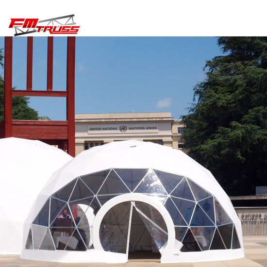New Design 6m Geo Dome House Round Shape Half Sphere Tent For Hotel And Exhibition
