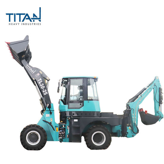 China Towable Wheel Mini Excavator Loaders Tractor TL30-25 New Backhoe Loader Price