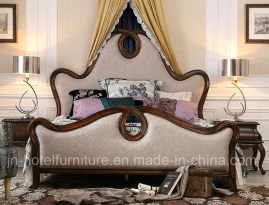 China Antique American Style Bed New Classic Home Bedroom Furniture