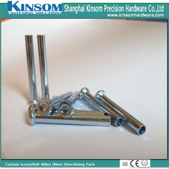 Knurling Semi Tubular Rivet with Bch1t Steel Special Head Blue Zinc Coating pictures & photos