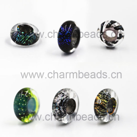 Murano Stone The Fashion Design Dichroic Glass Beads with High-Quality Multi-Color Fit for DIY Charms