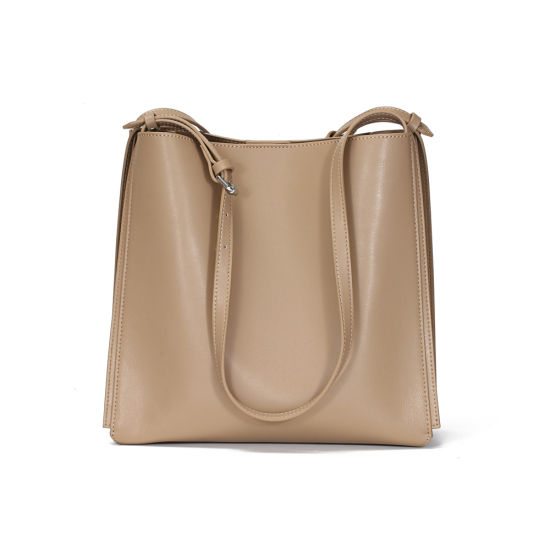 New Design Large Capacity Soft Genuine Cow Leather Women Hand Bag