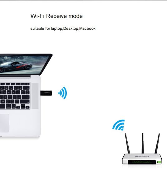 New Design 1200Mbps USB WiFi Adapter Support 2.4G and 5.8g USB3.0 Interface WiFi USB Dongle pictures & photos