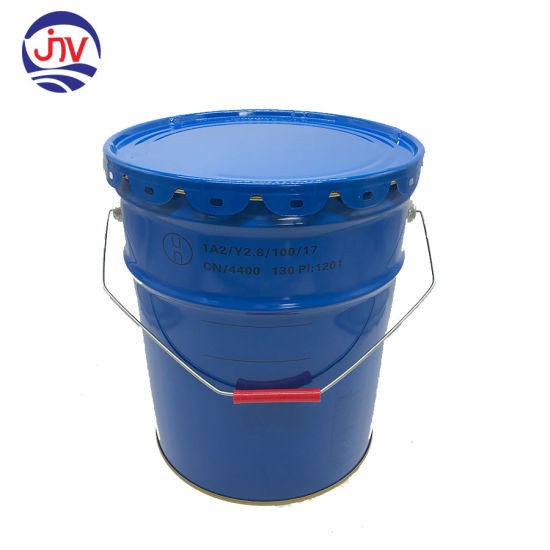 Metal 5 Gallon Blue Steel Pail and Cover Un Rated