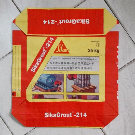 China Waterproof Kraft Paper Concrete Bag with Valve - China