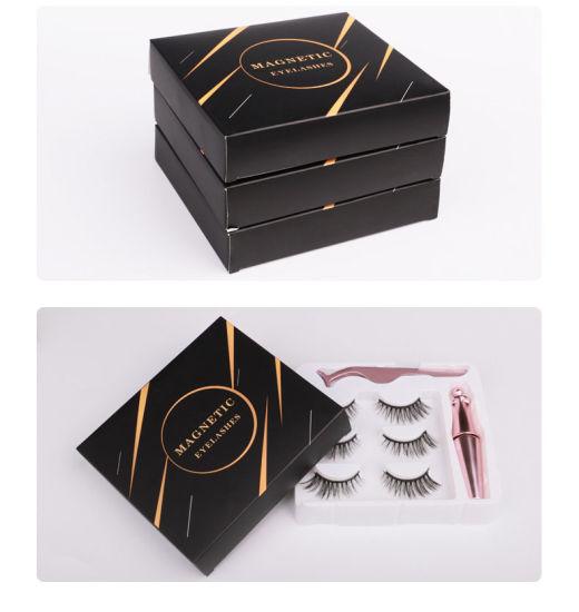Manufacturer Magnet Eyelash Set Liquid Eyeliner Metal Tweezers Magnetic False Eyelashes
