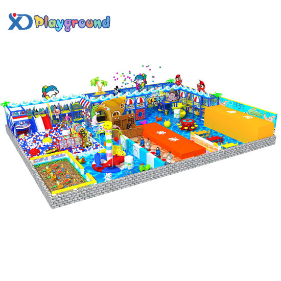 Ocean Theme Commercial Indoor Playground and Trampoline Park