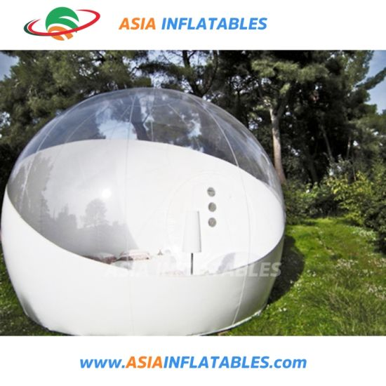53e1d856bd1 China Half Transparent Inflatable Bubble Tent for Outdoor Camping ...