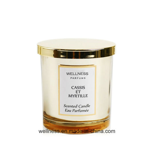 Hand Poured Luxury Scented Soy Candle in Glass Jar with Nice Packaging for Gift