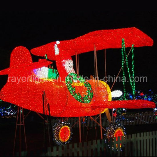 Garden Dled Lighting Figures Airplane Santa Lights Christmas Decorations pictures & photos