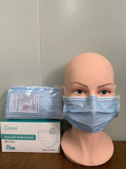 Disposable 3 Ply Protective Medical Mask Supplies