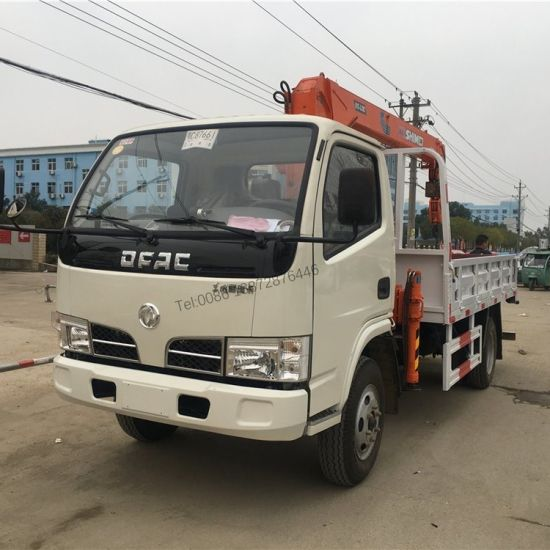 Dongfeng 4X2 Right Hand Drive 3.2tons 3 Tons Boom Truck Mounted Crane
