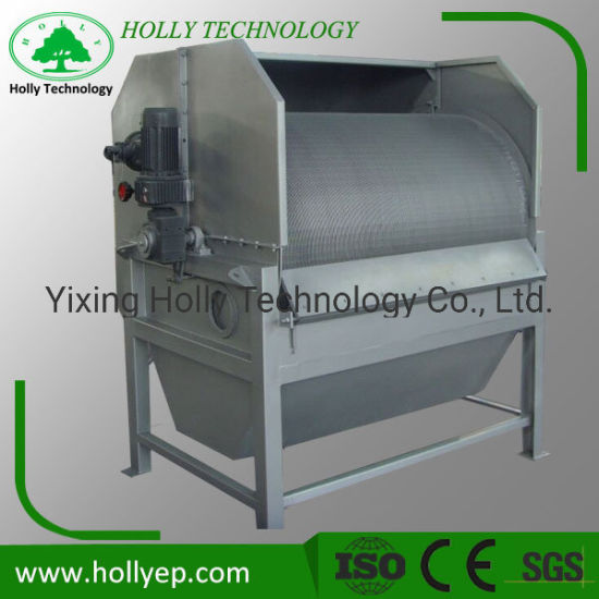 Rotary Drum Filter Press Machine in Sewage Treatment From Holly