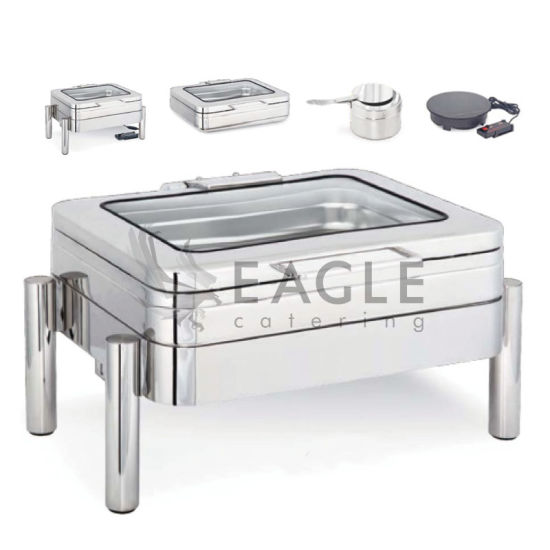 Stainless Steel Electrical Warmer Induction Chafing Dish Chafer Buffet Ware