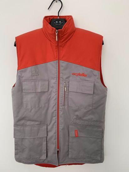 Padded Workwear Uniform Vest, Company Staff Working Gilet