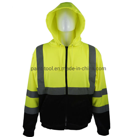 Antipilling Durable Strong Waterproof Workwear Safety Jacket for Workers and Traffic Warden