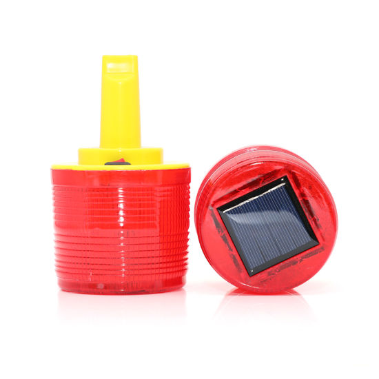 Solar Operation LED Traffic Cone Warning Light