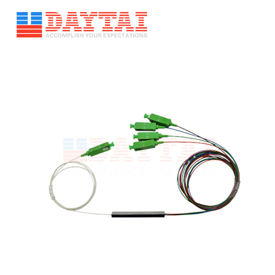 LC/Upc Connector 1X4 Fiber Optical PLC Splitter