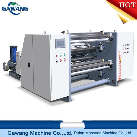 High Speed Round Blade Rewinding Slitting Machine Supplier with Ce