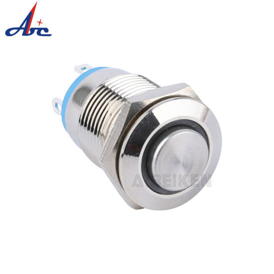 12mm High Round Waterproof Momentary LED Push Button Switch