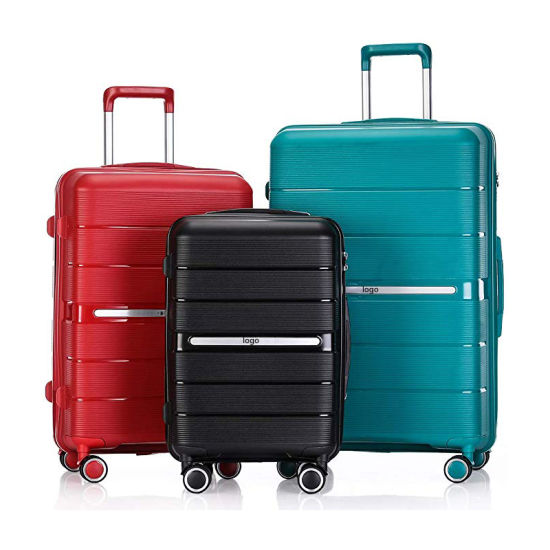 Custom Fashion Boarding Suitcase Lightweight Stylish Carry-on Travel PP Luggage