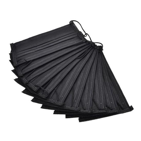Disposable Non Woven 4ply Active Carbon Charcoal Black Face Mask