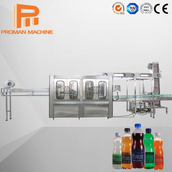 Automatic Drinking Pure Soda Water Bottling Equipment Beverage Filling Capping Labeling Machine for Carbonated Soft Energy Drink Plant Juice Production Line