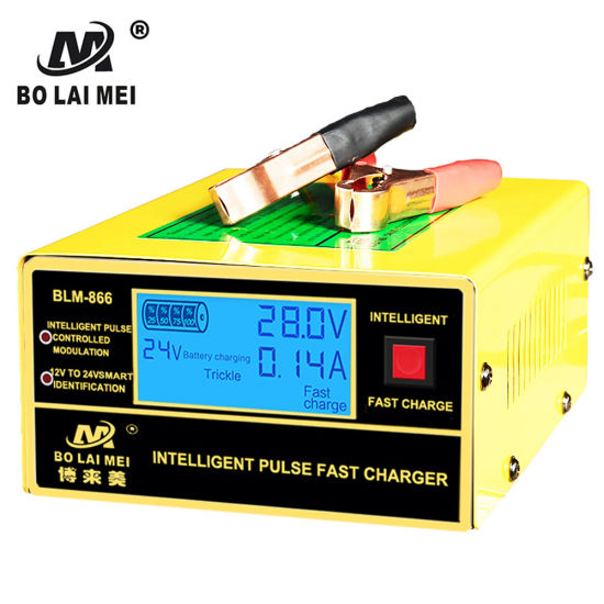 Full Automatic Electric Intelligent Pulse Repair Car Battery Charger 12V/24V