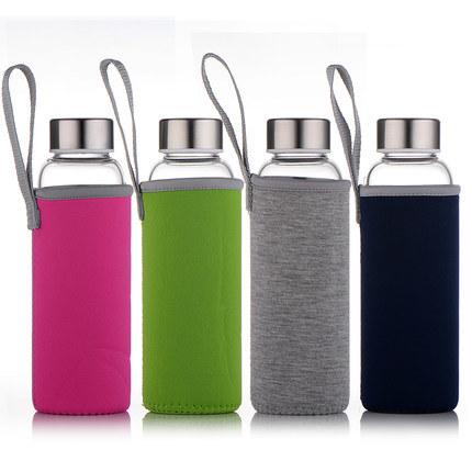 Unique Design Funny 420ml 500ml Long Round Water Bottle Insulate Neoprene Bottle Sleeve Drink Bottles Logo 300ml for Promotion Advertising Sports Gifts