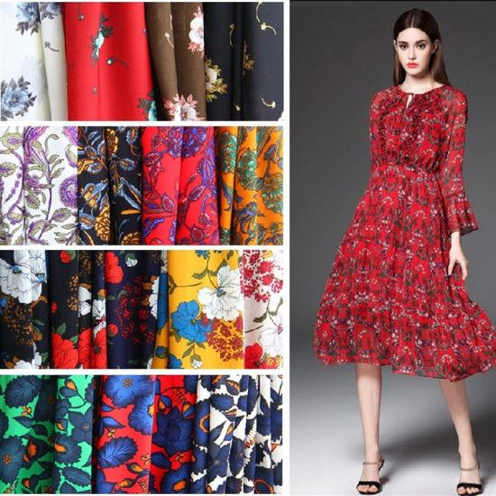 100% Polyester Smooth Koshibo Fabric with Printed for Garment Fabric