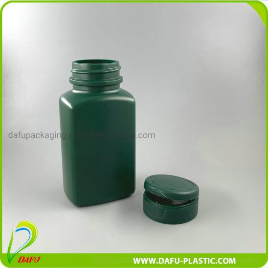 160ml HDPE Rectangular Plastic Pill Bottle with Flip Top Cap